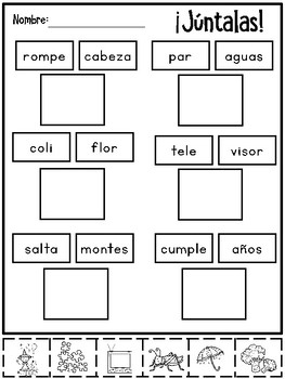 Palabras Compuestas {Spanish Compound Words}