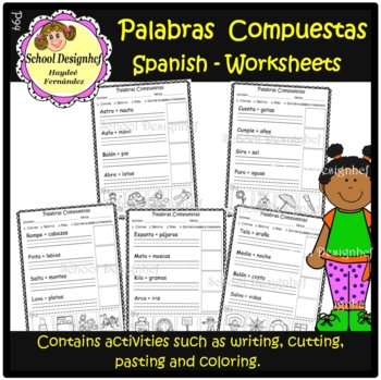 Palabras Compuestas Worksheets / Compound Words in Spanish