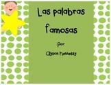 Palabras Famosas (1st Grade, Spanish)