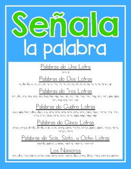 Palabras Frecuentes-Spanish Sight Word Pointers