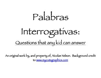 Palabras Interrogativas - Practice asking questions in Spanish