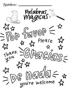 Palabras Mágicas: Por Favor, Gracias, De Nada