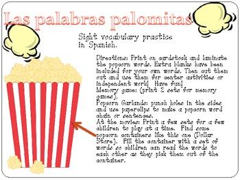 Palabras Palomitas