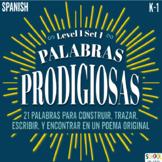 Palabras Prodigiosas BUNDLE Level 1 Set 1 Word Work/Word Wall, Spanish