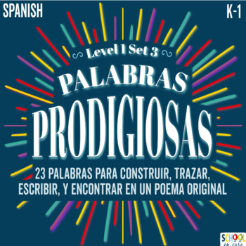 Palabras Prodigiosas Level 1 Set 3 Word Work [Spanish Sight Words]