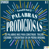 Palabras Prodigiosas Level 1 Set 2 Word Work [Spanish Sigh