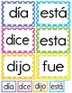 Palabras Prodigiosas Word Wall Cards Level 1 Set 3 [Spanish Sight Words]