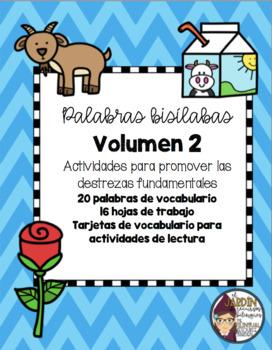 Palabras bisílabas (Volumen 2)-Two syllable words (Volume 2)