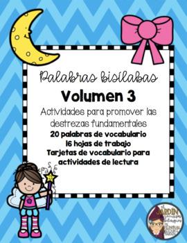 Palabras bisílabas (Volumen 3)-Two syllable words (Volume 3)