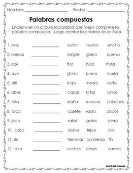 Palabras compuestas - Compound Words