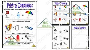 "Anchor Chart "" Palabras compuestas"" (Spanish)"