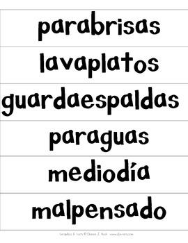 Spanish Compound Words (Palabras compuestas)