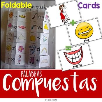 Palabras compuestas español- Compound words Foldable & Cards