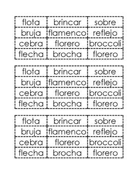 Palabras con FL y BR sorting (2 per page)