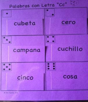 """Palabras con Letra """"Cc"""""""
