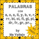 Palabras con: S,C,Z,Ll,Y,R,RR,BL,CL,FL...