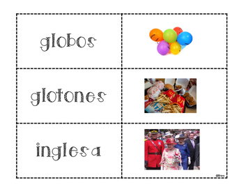 Palabras con gl - Words with gl