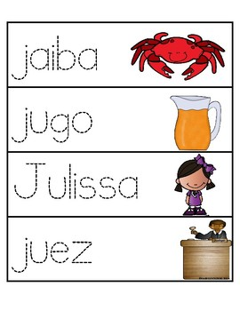 Palabras con la letra Jj