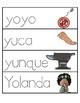 Palabras con la letra Yy