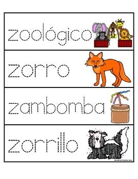 Palabras con la letra Zz