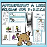 Aprendiendo a leer sílabas y palabras con u y a, e, i, o