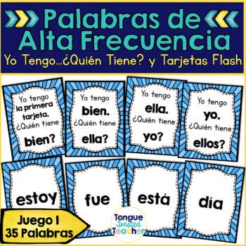 Palabras de Alta Frecuencia, Juego 1, Yo Tengo... Quien Tiene? y Tarjetas Flash