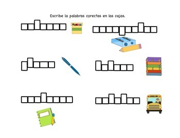 Palabras de Escuela/ School Themed Unit