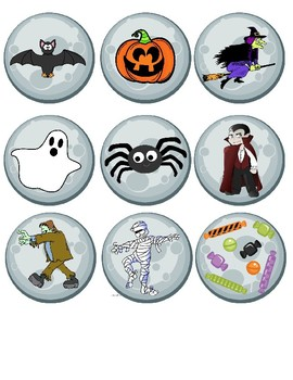 Spanish Halloween Vocabulary and Picture Match!