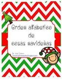 Palabras de Navidad en Orden Alfabetico
