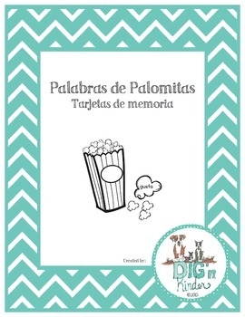 Palabras de Palomitas - Tarjetas de Memoria - Spanish Sight Words
