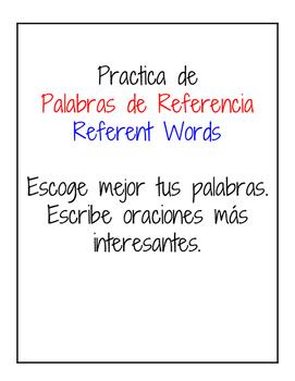 Palabras de Referencia / Referent Words