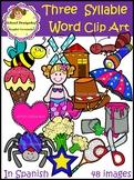 Palabras de Tres Sílabas - ClipArt/Three Syllable Word ClipArt(School Designhcf)