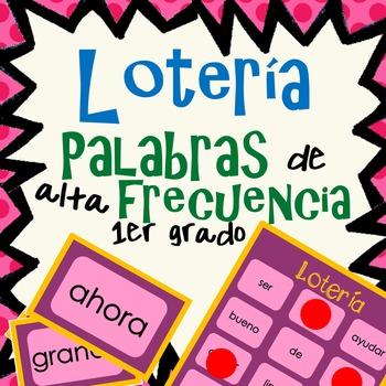 Palabras de alta frecuencia - Loteria - 1er Grado