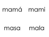 Palabras de dos sílabas con consonantes MPSL