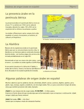 Palabras de origen árabe - Conversación Clase 6