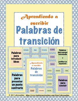 Palabras de transición para escribir ensayos