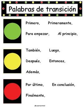Palabras de transicion poster (Spanish)