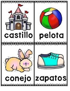 Palabras de tres sílabas