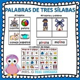 Spanish syllables. Palabras de tres sílabas