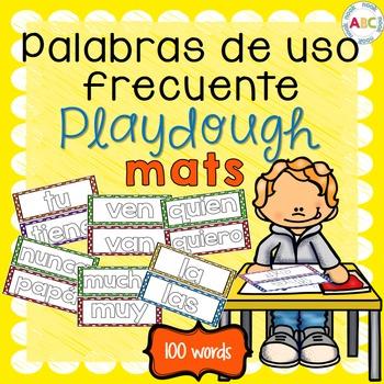 Palabras de uso frecuente Playdough mats