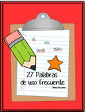 Palabras de uso frecuente   Spanish High Frequency Words