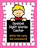 Spanish Sight Words Center:  Spanish Worksheets  Save Your INK