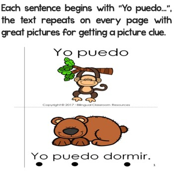 "Spanish High Frequency Words ""yo"" and ""puedo"""