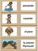 Spanish Word Wall Cards and Vocabulary Activities:Thanksgiving