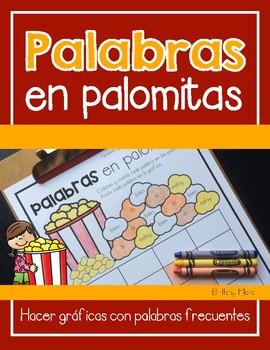 Palabras en Palomitas-Spanish Popcorn Words Graphing