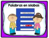Syllables and Words- Palabras en sílabas