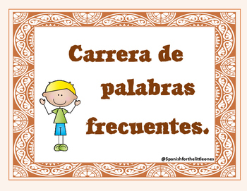 Palabras frecuentes / Sight Words / HFW -Nivel 1, 2, 3 - Spanish