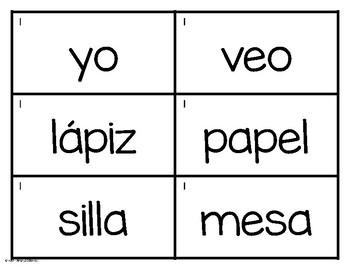 Palabras frecuentes para decoración-Spanish Word Wall