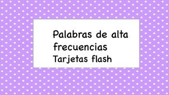 Palabras frecuentes tarjetas flash