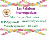 Palabras interrogativas Question words in Spanish interact